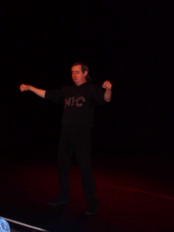 picture of Chik performing at Paisley Arts Centre